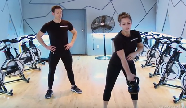 Watch video for Womens Kettlebell Workout Training